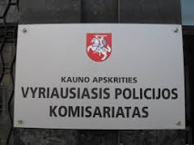 The police of Kaunas' County, Lithuania